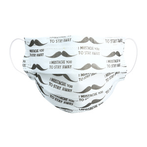 Mustache by Pavilion Cares - Disposable 3-Layer Face Mask (Set of 7)