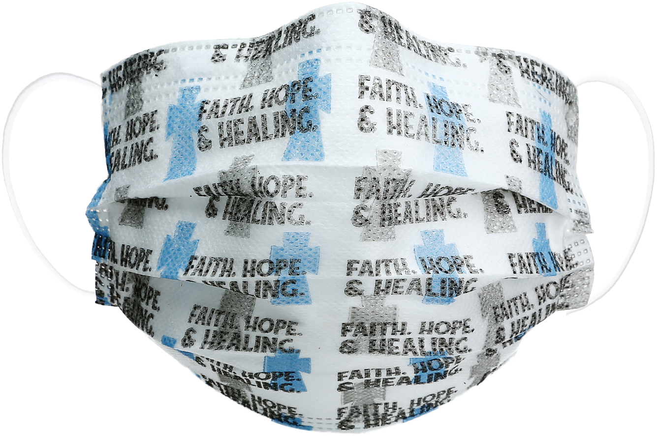 Faith, Hope & Healing by Pavilion Cares - Faith, Hope & Healing - Disposable 3-Layer Face Mask (Set of 7)