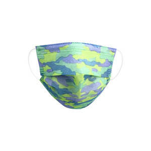 Blue Camo by Pavilion Cares - Kid's Disposable 3-Layer Face Mask (Set of 7)