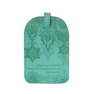 Tahitian Turquoise by Intrinsic - Gift Boxed Vegan Leather Luggage Tag