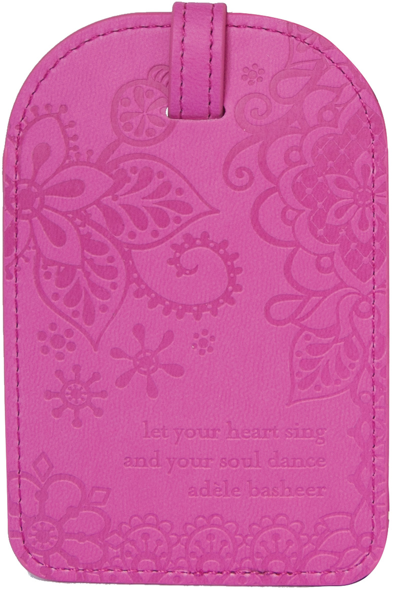 Miami Pink by Intrinsic - Miami Pink - Gift Boxed Vegan Leather Luggage Tag