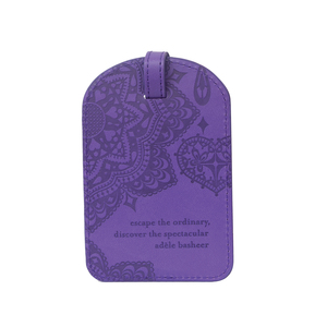 Violet by Intrinsic - Gift Boxed Vegan Leather Luggage Tag