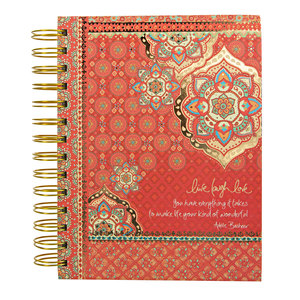 "Live Laugh Love by Intrinsic - 8.5"" x 6.75"" Spiral Notebook"