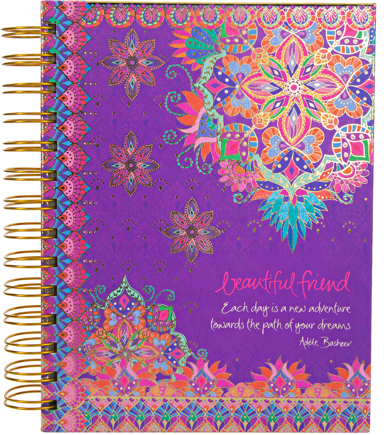 "Beautiful Friend by Intrinsic - Beautiful Friend - 7.5"" x 6.5"" Spiral Notebook"