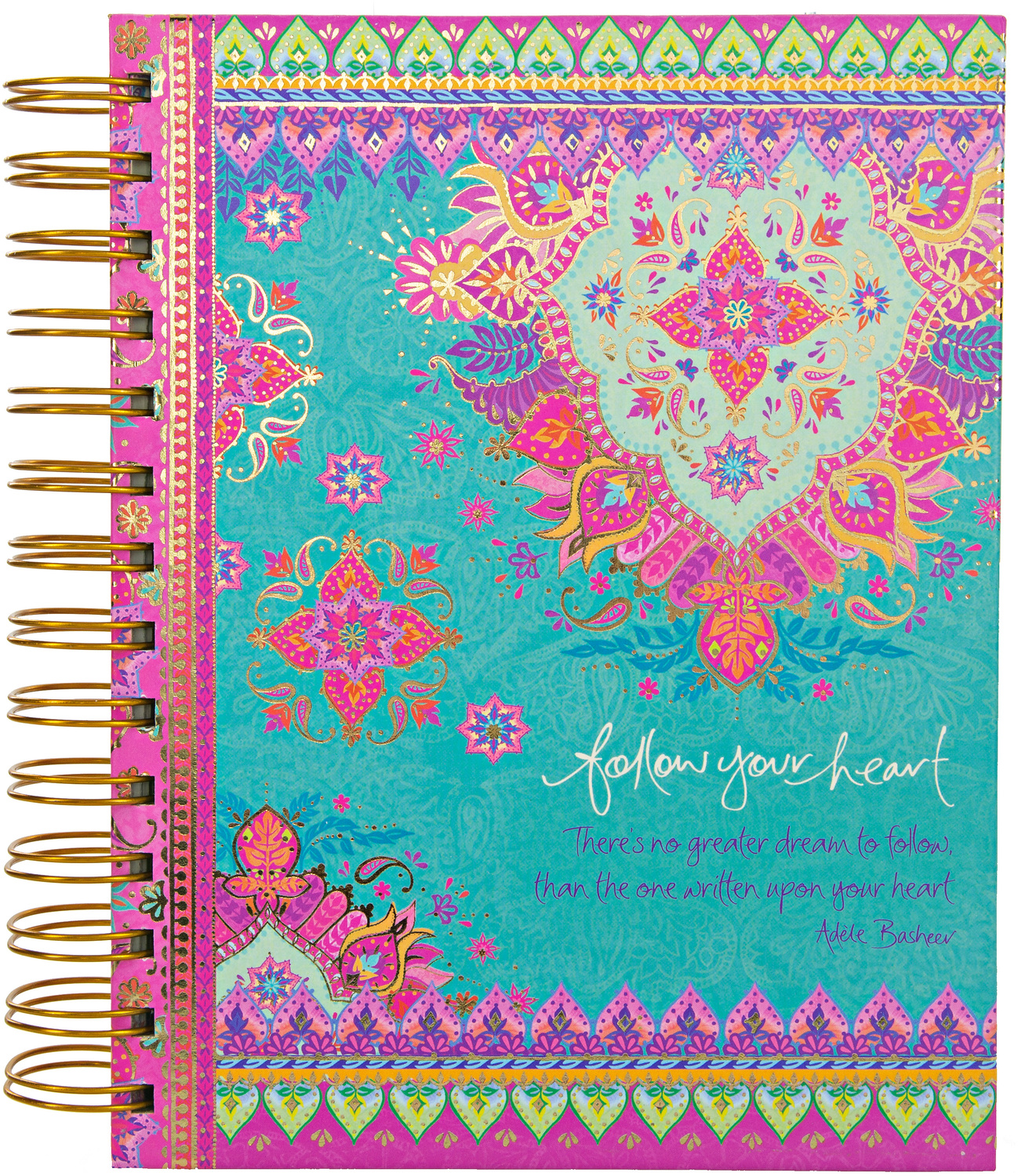 "Follow Your Heart by Intrinsic - Follow Your Heart - 7.5"" x 6.5"" Spiral Notebook"