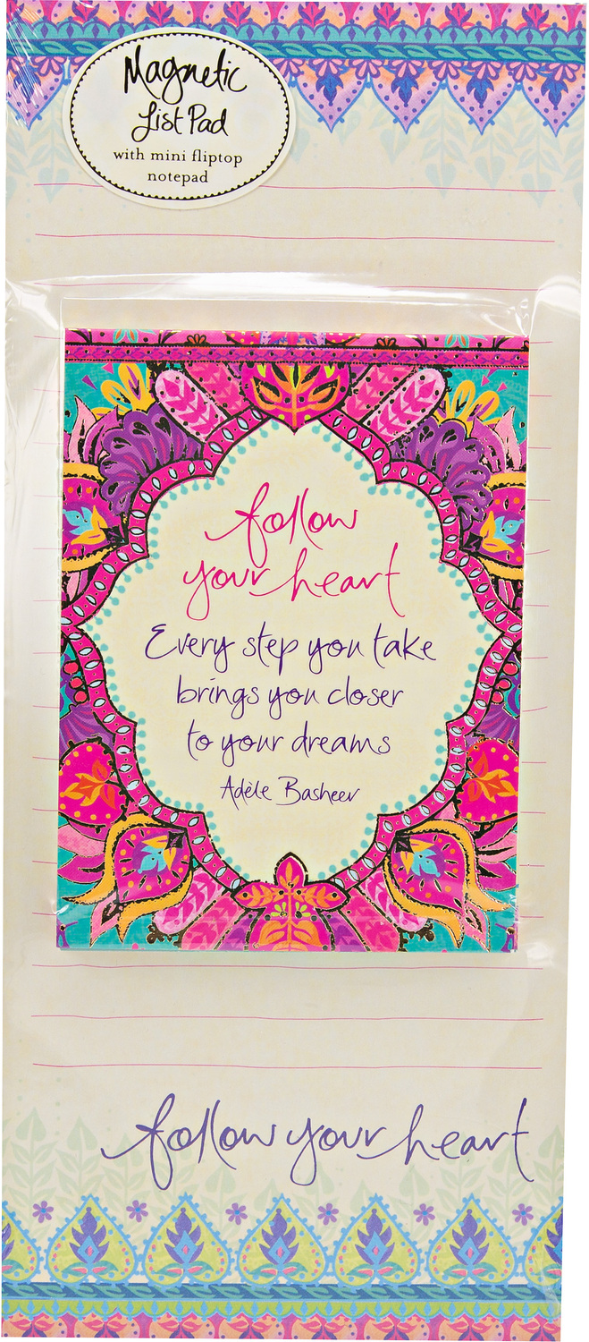 Follow Your Heart by Intrinsic - Follow Your Heart - Magnetic List Pad Set