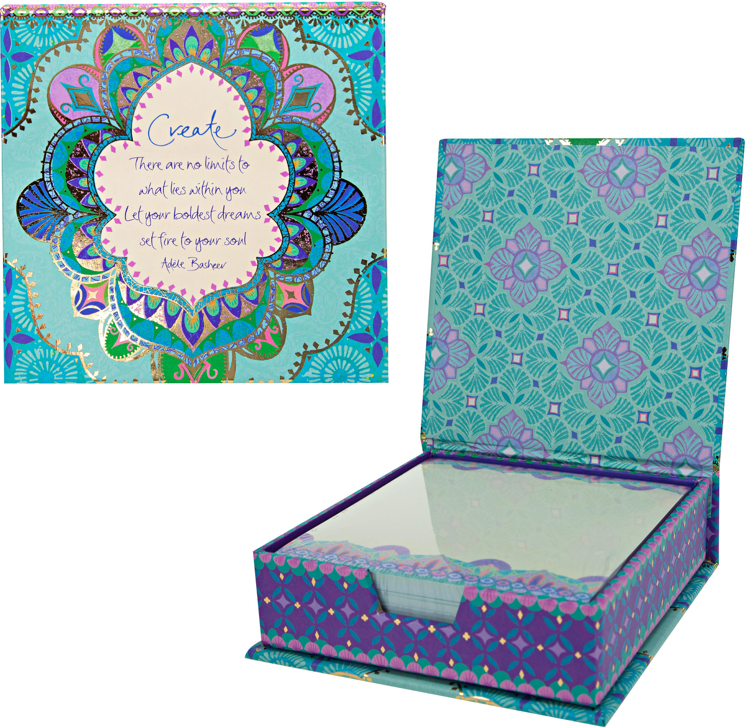 "Create by Intrinsic - Create - 5.25"" x 5.25"" x 1.75"" Note Box"
